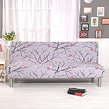 junda sofa cover folding armless sofa cover couch slipcover furniture protector cover couch futon cover washable amazon    armless sofa cover stretch sofa bed slipcover      rh   amazon