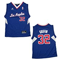 YOUTH NBA Los Angeles Clippers Griffin #32 Pro Quality Athletic Jersey Top - Blue