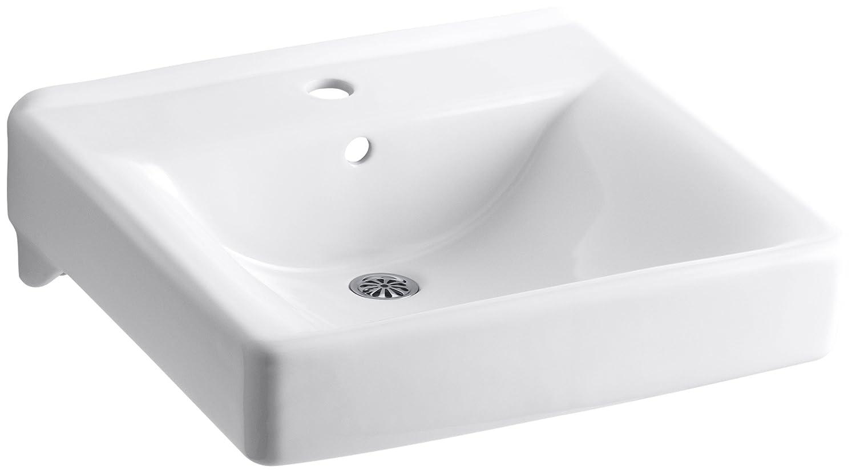 kohler k20840 soho wallmount bathroom sink white wall mounted sinks amazoncom