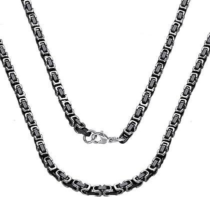 Men/'s Stainless Steel Necklace Titanium Necklace Chain 2mm-4mm 55cm hot H4E1