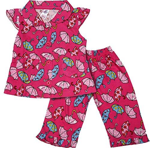 Nauti Kidz Baby Girls' Cotton Night Suit Set