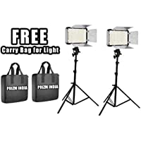 Simpex Professional 400 Led Video Light Dual Kit with Battery and Charger and AC/DC Power Adapter (2 Pieces)