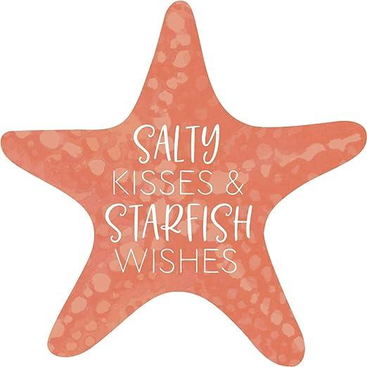 Make a Wish Upon a Starfish Printed 3 x 3 Wood Inspirational Magnet