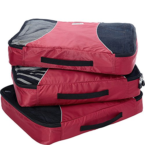 EBags Large Packing Cubes - 3pc Set (Raspberry)