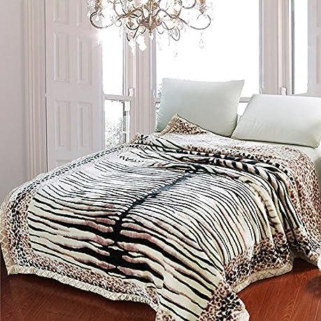 Znzbzt Double Thick Blanket Dorm Single Double Warm Winter Fleece Blanket Blanket Rmal Blanket 200x230cm Double 8 Jin Tiger Striped