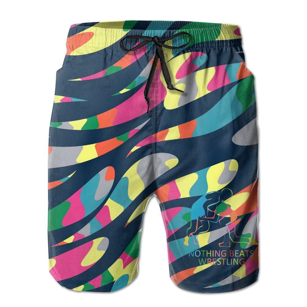 SHORT SOU Nothing Beats Wrestling Mens Swim Trunks With Pockets Quick Dry Trunks