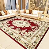 Vintage European Style Floral Printed Carpet Perfect for Living Dinning Room and Bedroom Rugs, Interior Modern Floor Carpet Design Carpet Rug 52 by 75 Inch