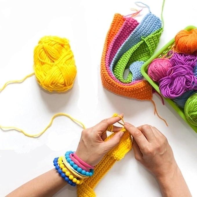 Meowoo- Agujas de Ganchillos Serie de Crochet Kits de Ganchillo Estuche para Crochet Organizador de Agujas Bolsa de Herramientas Juego del ...