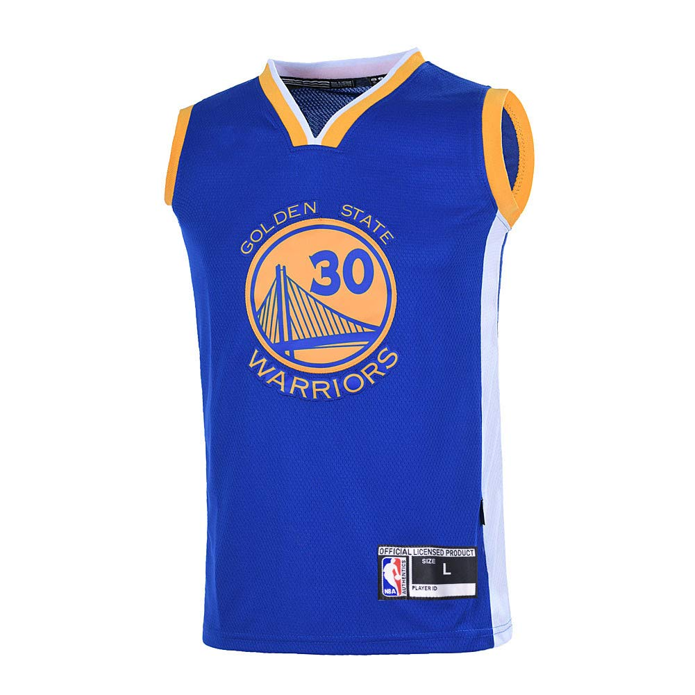 huge discount d9e7f 34046 Outerstuff Boys Stephen Curry Golden State Warriors #30 Youth Road Jersey  Blue (Youth Small 8)