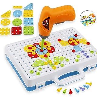 YuanChengKeji Viti per Trapani elettrici Strumenti Giochi per Bambini Set Puzzle Animali Giochi di Costruzione con Giocattoli Giochi di apprendimento con Scatola di immagazzinaggio Regalo per Bambini