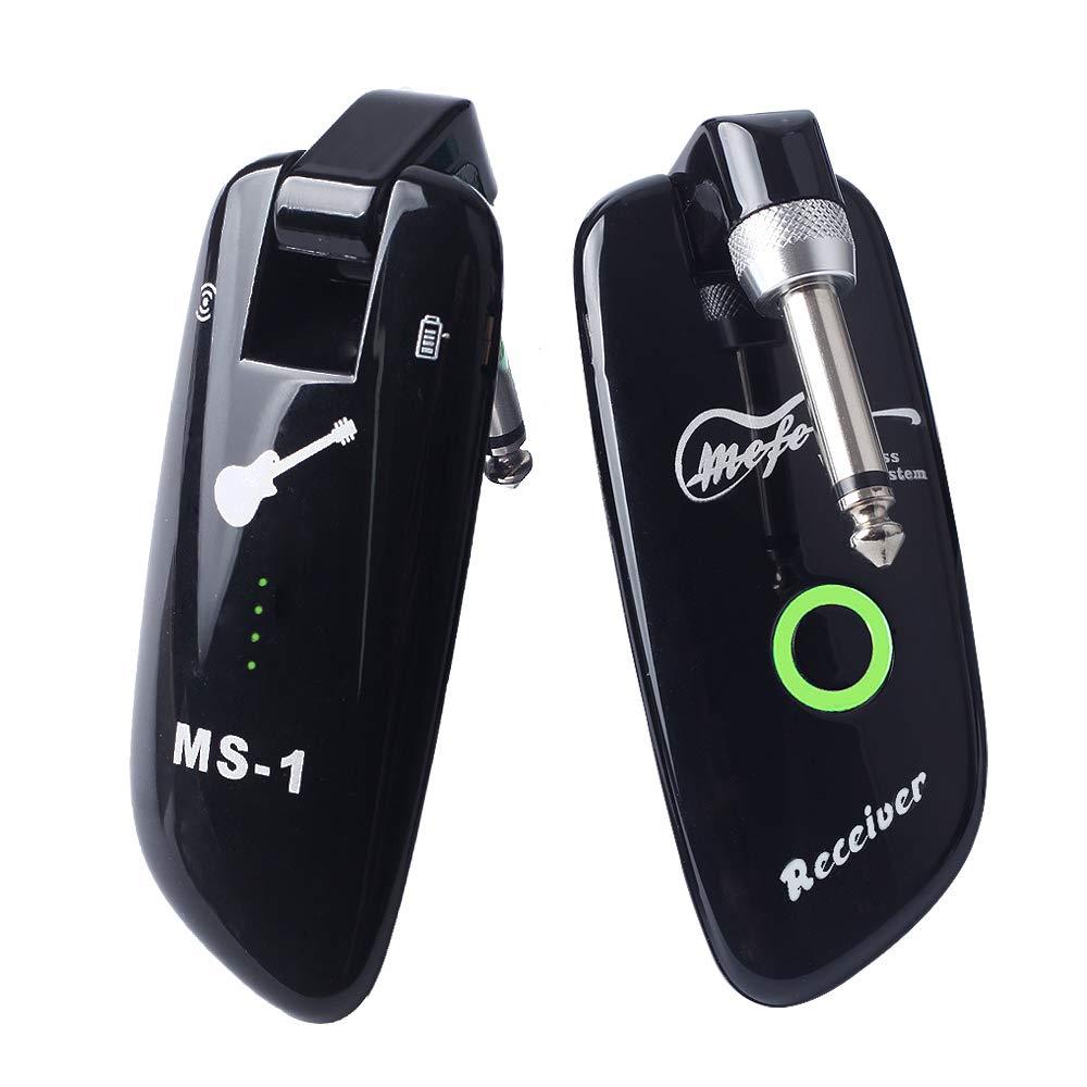 Mefe Rechargeable Wireless Guitar System Guitar Bass Wireless Digital Transmitter Receiver 100 Channels