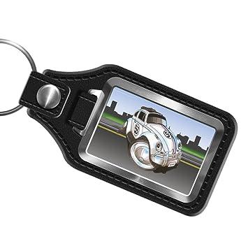 Koolart Ultimate Cartoon Herbie Beetle Black Leather Key Fob Key Ring   Amazon.co.uk  Luggage ed1721b0fa
