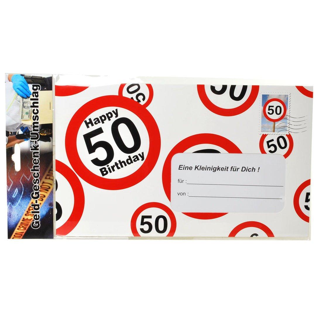 Amazon.de: 50.Geburtstag Deko XXL Umschlag für Geldgeschenke oder ...