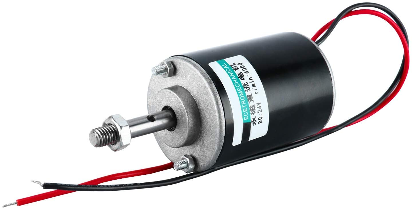 30W 6000RPM YaeGarden DC 24V Permanent Magnet DC Motor Electric Gear Motor Micro Speed Reduction Geared Motor High Speed CW//CCW For DIY Generator