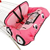 Cute Car Design 2-in-1 Shopping Cart & High Chair Cover for Baby with Portable Bag | Universal Fit All Shopping Cart…