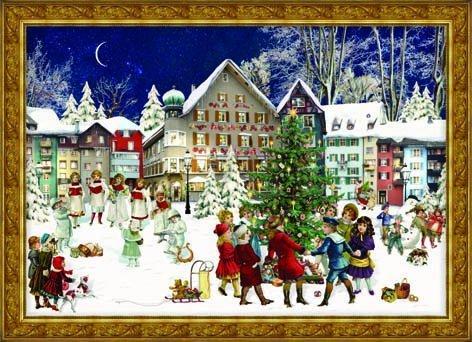 (Victorian Village Carolers German Advent Calendar)