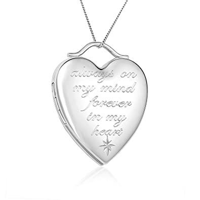 necklace lockets silver dp pendant heart sterling amazon locket forever picturesongold my in com