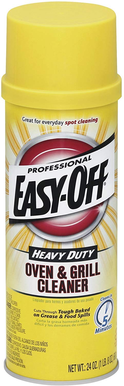 Easy Off Professional Oven & Grill Cleaner, 24 oz Can (2 Pack)