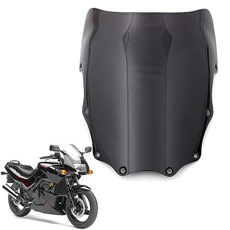 Areyourshop ABS Moto Windshield Windscreen For Kawasaki EX500 Ninja 500R 1987-2009 Black