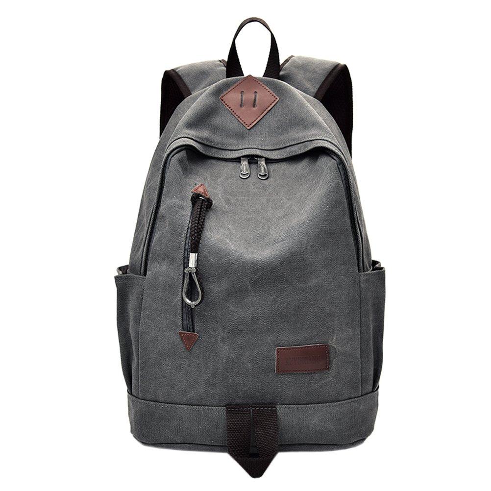 EasyHui Canvas College School Bag Vintage Bakcpack Purse Boys and Men Travel Bag Backpack for Student