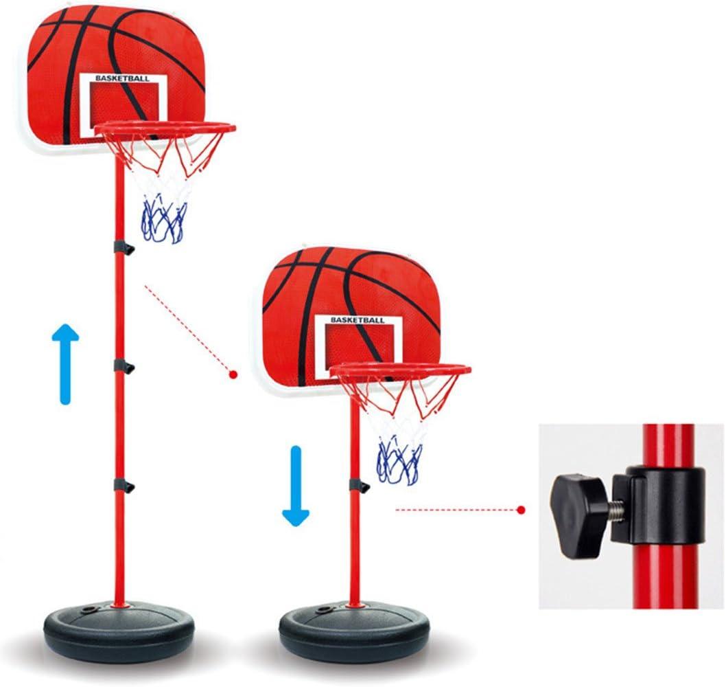 R/églable en Hauteur Portable avec Panneau Panier de Basket Enfant sur Pied pour Int/érieur Ext/érieur 63-150cm Teakpeak Support de Panier de Basket-Ball