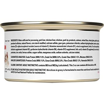 Amazon.com : Pack of 24, 3 OZ, Thin Slices in Gravy, Adult Instinctive Cat Food : Pet Supplies