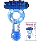 Vibrating Cock Ring for Male Penis Erection Enhancer for Stronger Orgasms with Vibrations for Clit Stimulation