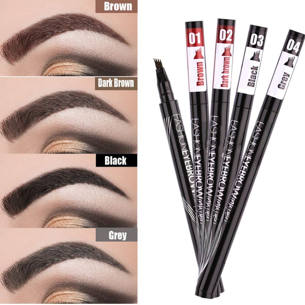 Amazon Eyebrow Pencil Black Brown Gray Liquid Eyebrows Pen