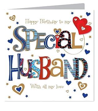 Large Luxury Handmade Husband Birthday Card