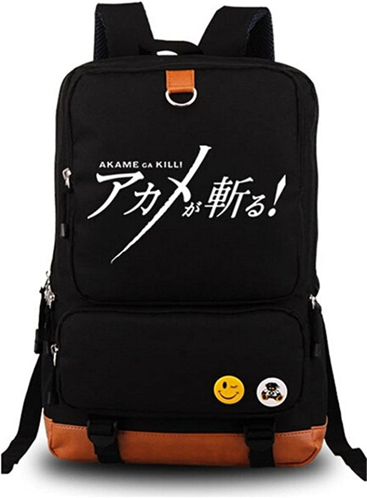 Siawasey Japanese Anime Cosplay Canvas Bookbag Backpack Shoulder Bag School Bag