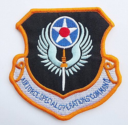 US Air Force Air Combat Command Black Vinyl Bound Patch With Velcro Backing (Patch Command Air Combat)