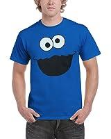 Sesame Street Cookie Monster Face Adult T-Shirt