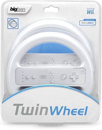 Bigben Interactive White Twin Wheel Pack Volante Consola Compatible con Nintendo Wii: Amazon.es: Informática