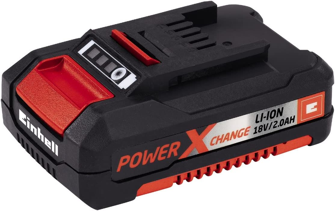 Einhell Akku-Stichs/äge TE-JS 18 Li Power X-Change Li-Ion, 18 V, max. 80 mm Schnitttiefe, 4-Stufen Pendelhub, Absaugadapter, Parallelanschlag, LED-Licht, inkl. 2,5 Ah Akku und Ladeger/ät