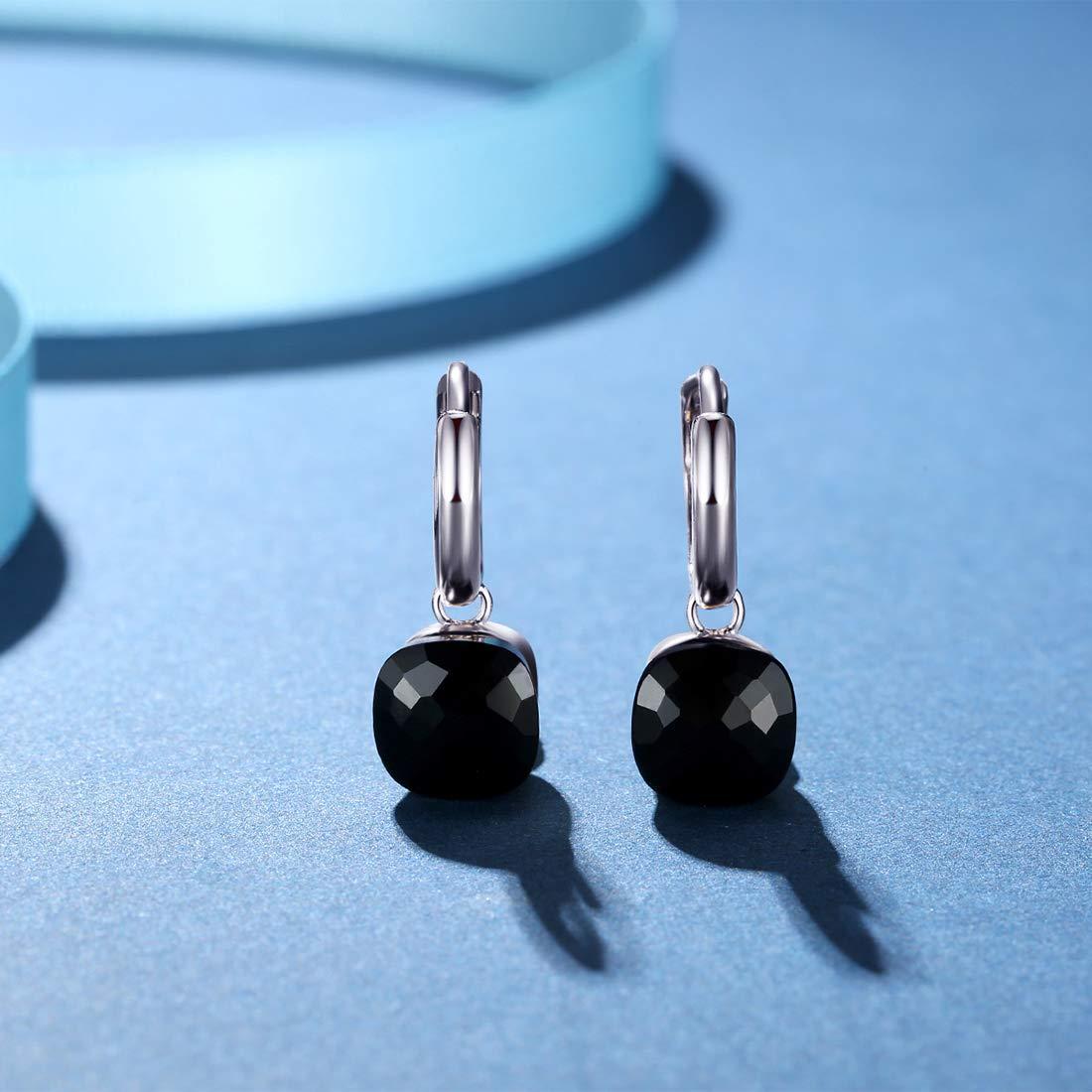 Metjakt classique Topaze bleue Boucles doreilles pendantes Argent sterling 925 massif Pendentif Boucles doreilles pour femme occasions fine bijoux