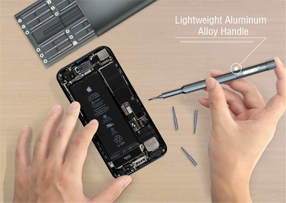24 in 1 Screwdriver Set Yapeach Repair Tool Kit with 24 Screwdriver Bits in Case for Cellphone Camera PC Laptop