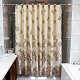 Shower curtain, waterproof Prevent mildew Polyester material Shower curtains 100x180cm, 240x200cm ( Color : 180*180cm )