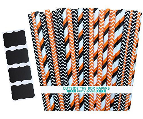 Halloween Paper Straws is one of our favorite fun camping Halloween decorations for your campsite and ideas for decorating your RV