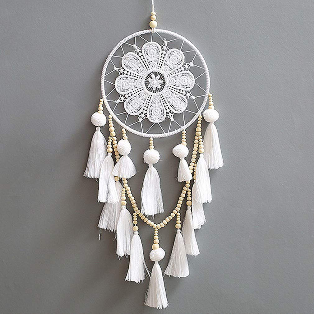 JuneJour Huge Handmade Dream Catcher Traditional Boho Style Feather Wall Hanging Car Décor Gift 5.1