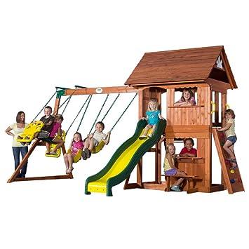 backyard discovery alpine wood swing set
