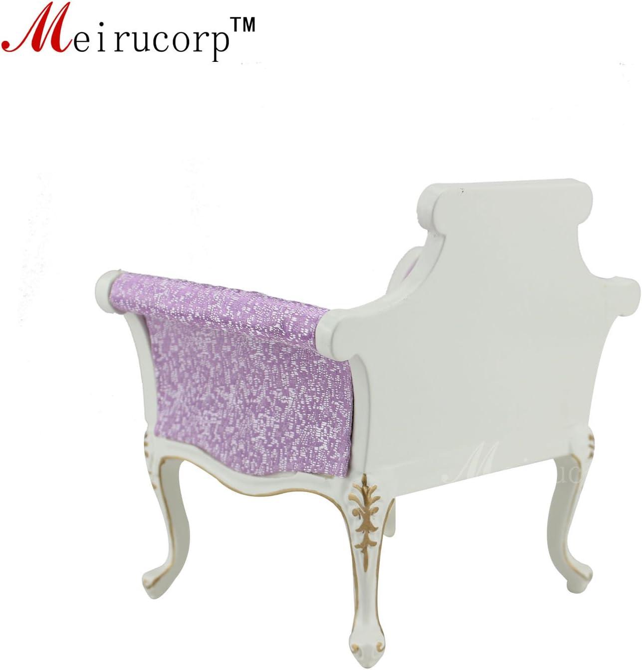 Doll Miniatues 1:6 scale Luxuriant furniture Handmade Gilt Armchair