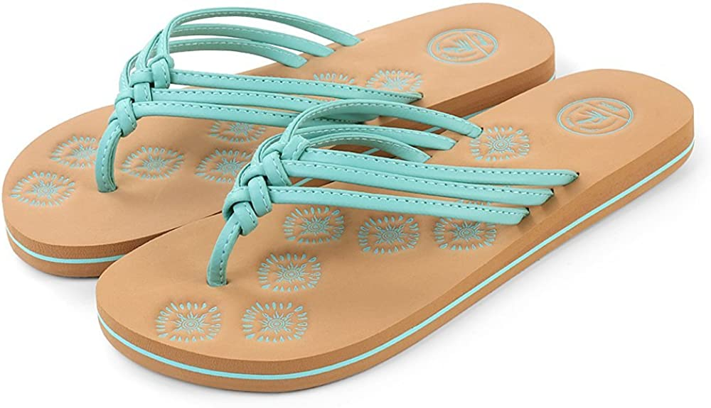 Aerusi Women's Summer Flat Flip Flop Daily Wear Beach Sandal