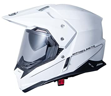 MT - Casco Off-Road con pantalla y visera MT Synchrony SV DUO SPORT Blanco