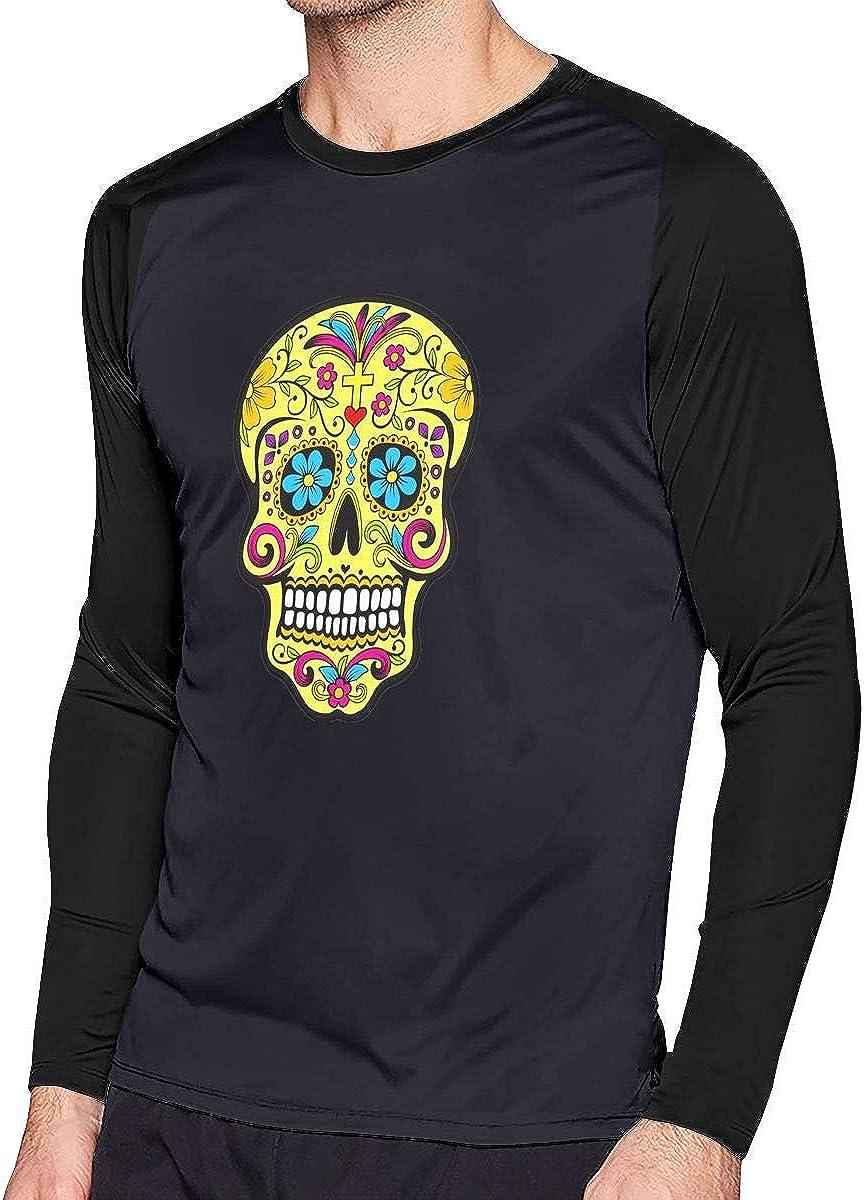 AIDANHAR Design Day of The Dead La Calavera Catrina Long-Sleeve T Shirt for Boyfiend