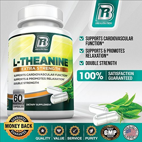 BRI Nutrition 200mg L-Theanine Enhanced with 100 mg of Inositol - 60 Count 200mg L Theanine Veggie Capsules by BRI Nutrition (Image #7)