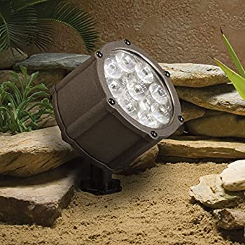 Kichler 15732azt landscape led low voltage flood landscape accent kichler lighting 15753azt led accent light 9 light low voltage 60 degree wide flood light textured architectural bronze with clear tempered glass aloadofball Gallery