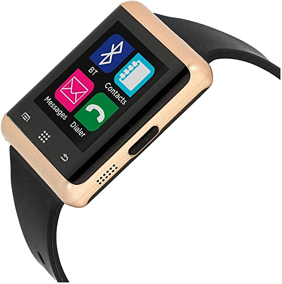 iTouch Air ita33601r714-264 Bluetooth Smart Watch Phone and Fitness Activity Tracker Touch Screen Smart Wrist Watch - Black