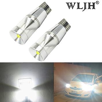 WLJH 2 x T10 Cree LED Bombillas libre de errores canbus 168 194 921 LED bombilla de recambio: Amazon.es: Coche y moto