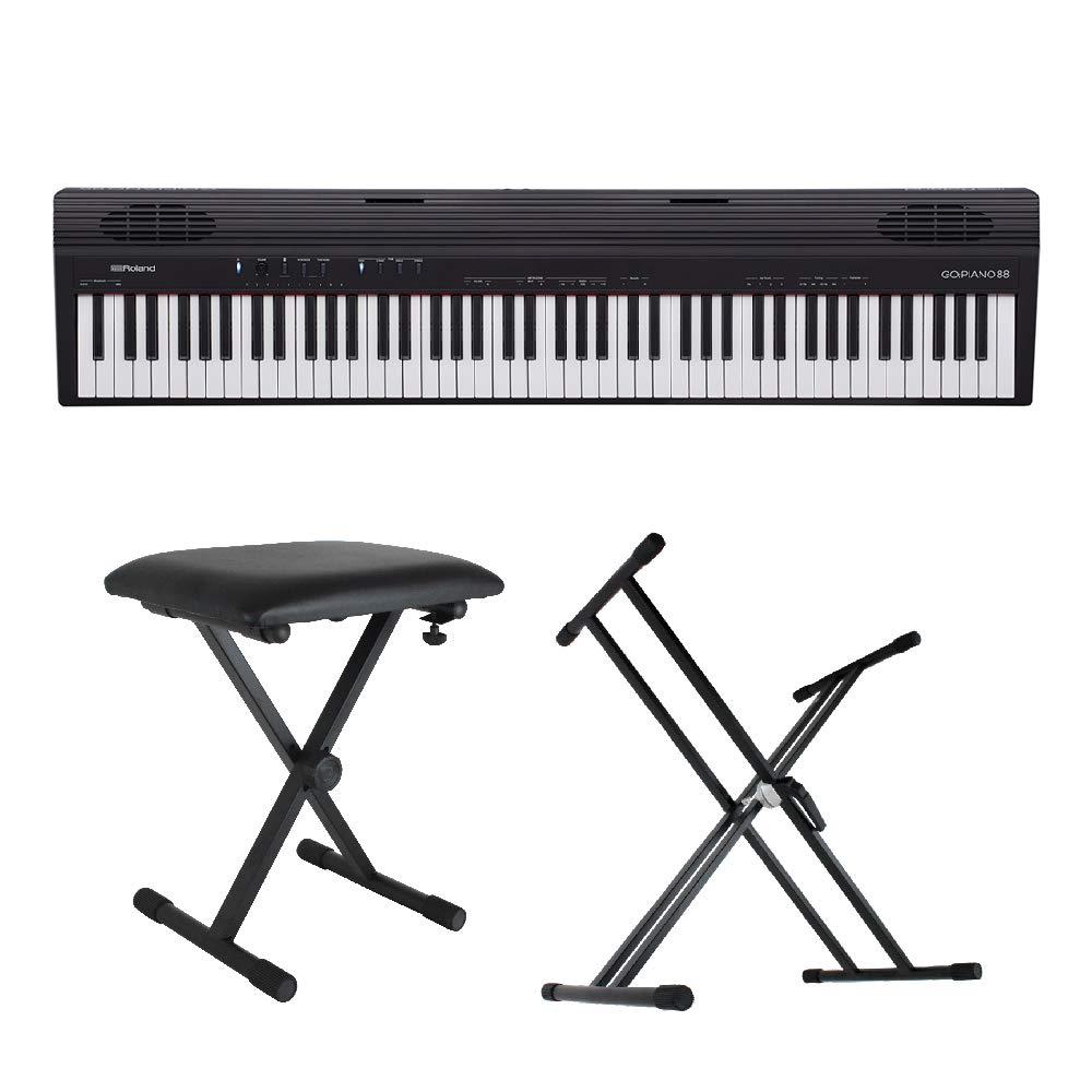 ROLAND GO-88 GO:PIANO88 X型スタンド/X型椅子付きセット エントリーキーボード ピアノ 88鍵盤   B07NQGFJ3S
