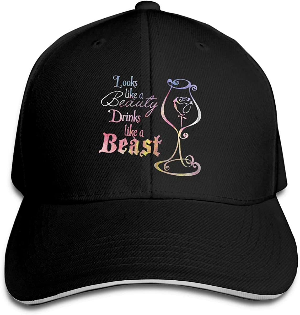 Looks Like A Beauty Drink Like A Beast Classic Adjustable Cotton Baseball Caps Trucker Driver Hat Outdoor Cap Black